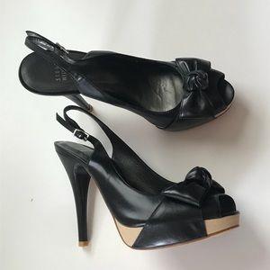 Stuart Weitzman Black Slingback Heels ✅Offers